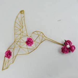 collier lacté colibris